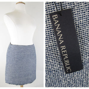 BananaRepublic Plus Sz Metallic Tweed Pencil Skirt